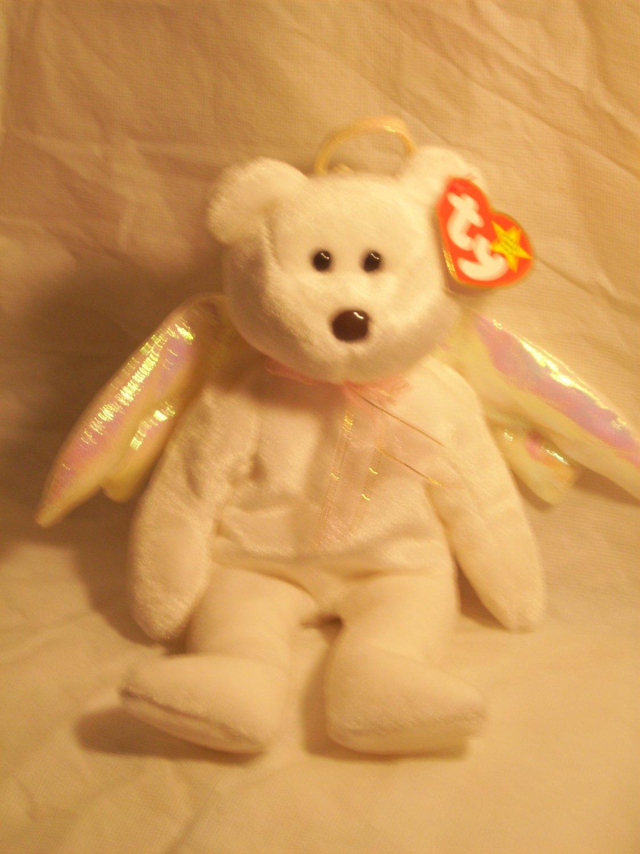 "Halo ""the Angel bear""**RETIRED**Ty beanie baby"