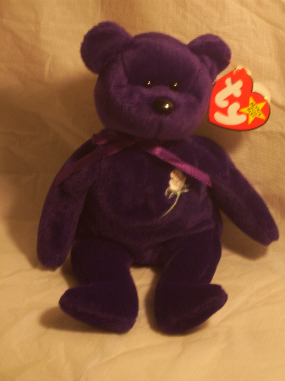 "Princess Dianna ""the bear""**RETIRED**Ty beanie baby"