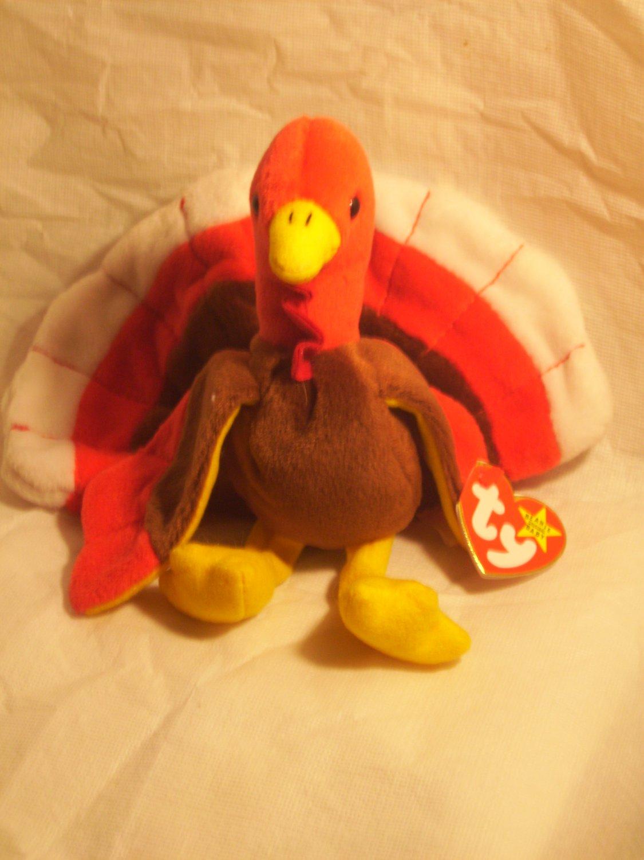"Gobbles ""the turkey""**RETIRED**Ty beanie baby"