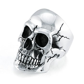Realistic Skull Ring Available US Size: 7-15