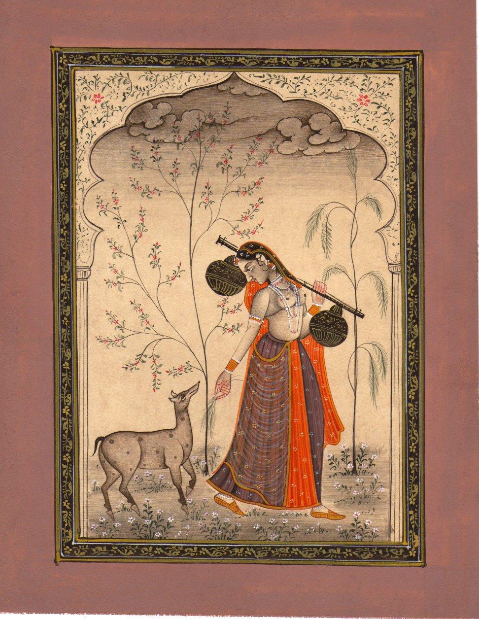 Ramakali {ragini}, from a {ragamala} series by India, N