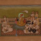 Rajasthani Miniature Painting Indian Handmade Maharaja 19c Replica Ethnic Art