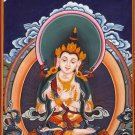 Buddha Thangka Painting India Nepal Handmade Buddhist Thanka Watercolor Folk Art