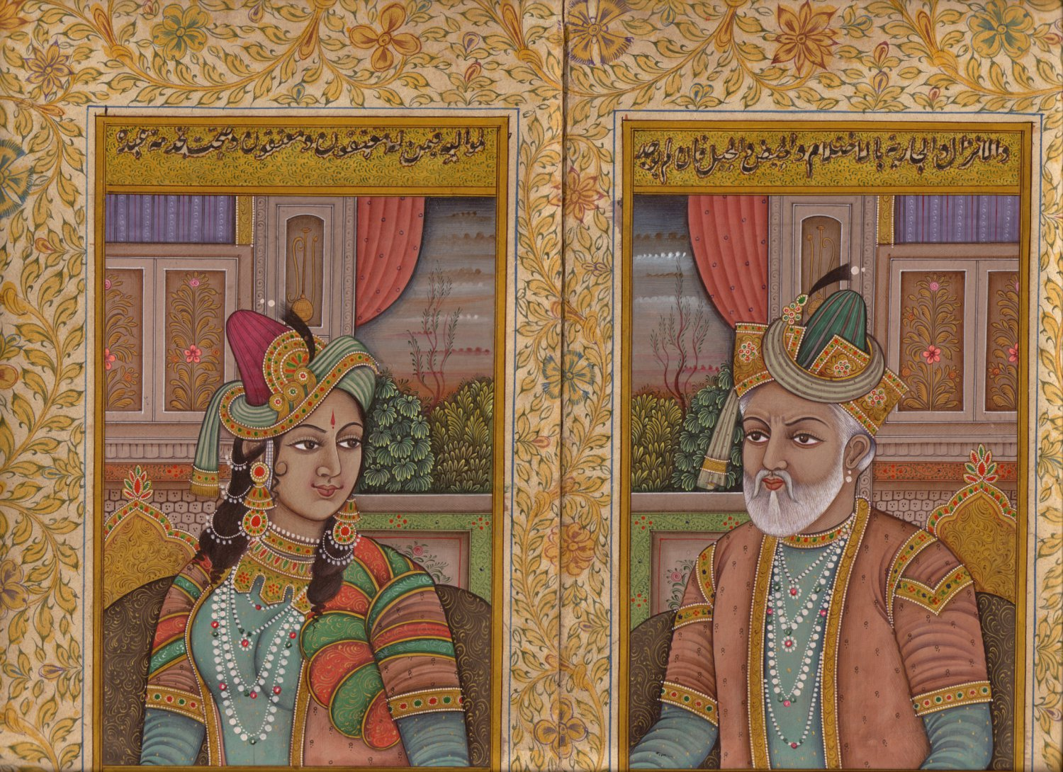 Mughal Empire Art Handmade Moghul Miniature Portrait