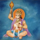 Hanuman Handmade Painting Indian Miniature Hindu Ramayana Epic Oil Canvas Art