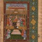 Mughal Empire Painting Moghul Miniature Emperor King Jahangir Padshahnama Art