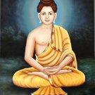 Buddha Ethnic Painting Handmade Indian Buddhist Oil on Canvas Buddhism Decor Art