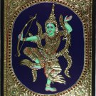Tanjore Indonesian Rama Painting Handmade South Indian Thanjavur Gold Relief Art