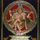 Tanjore Nataraja Painting Handmade Indian Thanjavur Shiva Wall Decor Gold Art