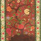 Mughal Miniature Floral Painting Handmade Moghul Indian Muslim Ethnic Flower Art