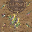 Indian Bird Miniature Painting Handmade Nature Ornithology Old Stamp Paper Art