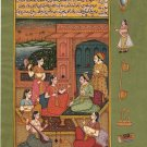 Mughal Miniature Painting Handmade Indo Islamic Script Paper Ethnic Moghul Art