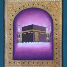 Tanjore Holy Mecca Kaba Painting Handmade Indian Thanjavur Wall Decor Islam Art