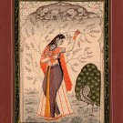 India Ragini Ragamala Artwork Rajasthan Handmade Miniature Ethnic Folk Painting