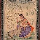 Todi Ragini Miniature Art Indian Rajasthani Ethnic Handmade Ragamala Painting