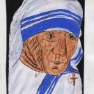 Mother Teresa Painting Handmade West Bengal Kolkata Tribal Folk Miniature Art