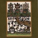 Varli Art Handmade Indian Maharashtra Tribal Miniature Decor Warli Folk Painting