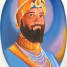 Guru Gobind Singh Art Hand Painted Oil on Canvas Sikh Portrait Ethnic Painting