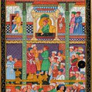 Mughal Empire Miniature Painting Hand Painted Moghul Dara Shikoh Padshahnama Art