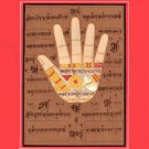 Hand Hath of Vishnu Tantrik Painting Handmade Indian Tantric Hindu Handprint Art