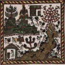 Indian Varli Art Handmade Maharashtra Tribal Miniature Decor Warli Folk Painting