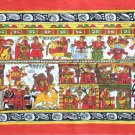 Phad Rajasthan Painting Handmade Indian Miniature Folk Decor Ethnic Scroll Art
