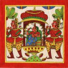 Phad Miniature Art Handmade Indian Rajasthan Folk Maharani Scroll Painting