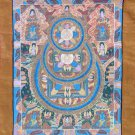 Shakyamuni Buddha Mandala Thangka Thanka Silk Brocade Scroll Wall Decor Painting