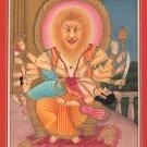 Lord Narasimha Handmade Hindu Deity Painting Indian Religion Spiritual Artwork