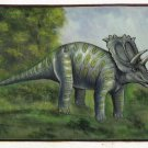 Anchiceratops Dinosaur Art Handmade Oil Canvas Extinct Wild Beast India Painting