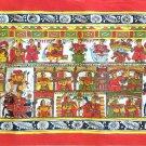 Phad Indian Painting Handmade Rajasthan Miniature Folk Decor Ethnic Scroll Art