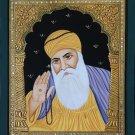 Tanjore Baba Guru Nanak Dev Ji Painting Handmade Indian Sikh Thanjavur Folk Art