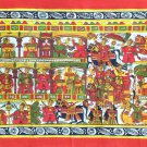 ndian Phad Art Handmade Miniature Scroll Decor Ethnic Rajasthan Folk Painting