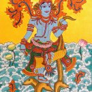 Kerala Mural Kaliya Mardanam Painting Handmade South Indian Hindu Krishna Art