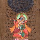 Krishna Radha Handmade Painting Hindu Religious God Goddess Watercolor Image Art