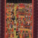 Mughal Miniature Painting Handmade Moghul Emperor Royal Wedding Mogul Empire Art