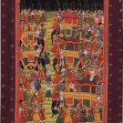 Mughal Miniature Painting Handmade Moghul Emperor Royal Wedding Mogul Empire Art