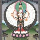 Avalokiteshvara Buddha Painting Rare Handmade Spiritual Buddhist Religious Art