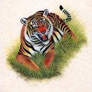India Wild Tiger Miniature Art Handmade Watercolor Ethnic Animal Paper Painting