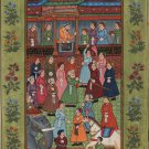 Mughal Empire Miniature Art Rare Handmade Emperor Jahangir & Shah Shuja Painting