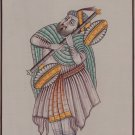 Rajasthani Musician Portrait Painting Handmade Indian Ethnic Miniature Art