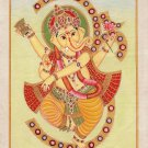 Ganesh Hindu Painting Handmade Ganesha Indian Religious Ganpati Canvas Oil Art