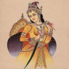 Indian Miniature Painting Handmade Mughal Empress Noor Jahan Portrait Ethnic Art