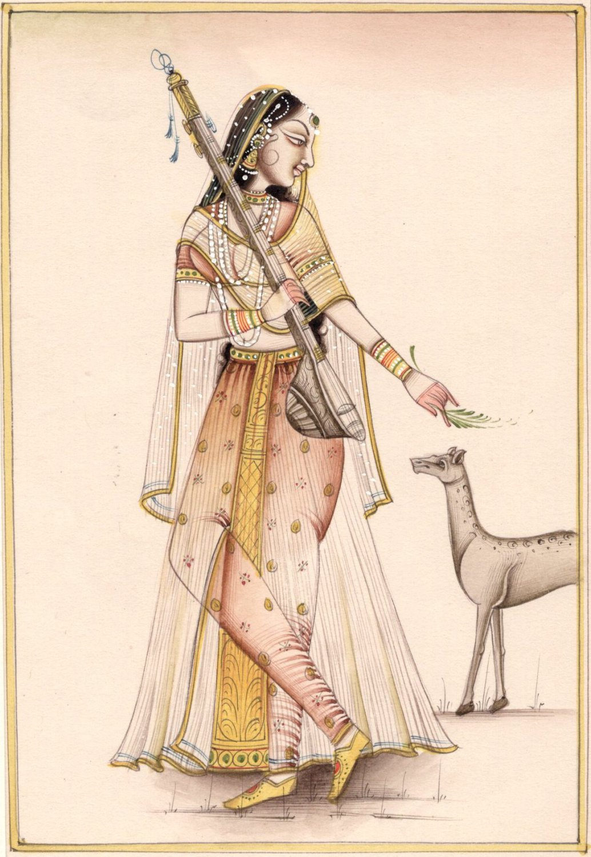 Rajasthan Miniature Todi Ragini Ragamala Painting Indian Handmade Ethnic Art