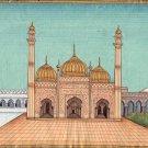 Sunehri Masjid Golden Mosque Art Handmade Indian Monument Miniature Painting