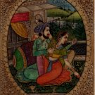 Mughal Miniature Painting Handmade Antique Finish Indian Emperor Harem Folk Art