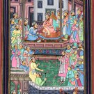 Mughal Empire Miniature Painting Handmade Moghul Period Akbarnama Indian Art