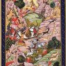 Mughal Miniature Baburnama Painting Handpainted Moghul Emperor Babur Indian Art