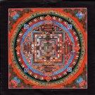 Kalachakra Mandala Painting Handmade Tibetan Thangka Buddhist Meditation Art