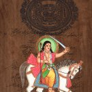 Kalki Final Vishnu Avatar Art Handmade Stamp Paper Indian Hindu Deity Painting